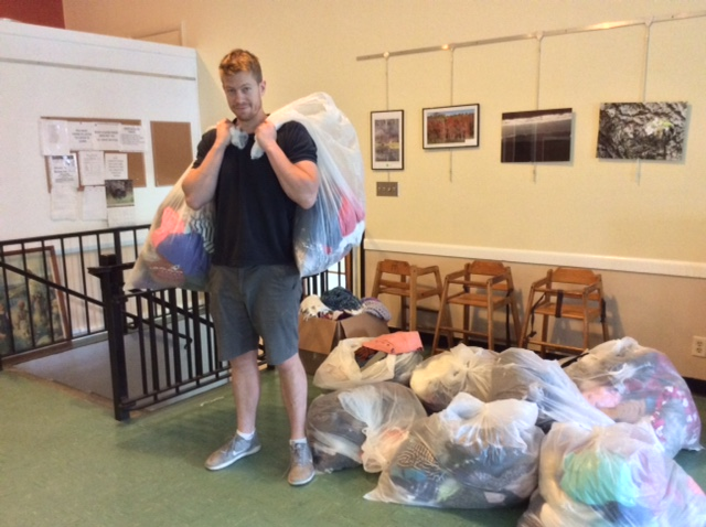 Rem Is Just What The Clothes Closet Needed To Move Heavy Bags When We  Benefited From A Large Donation From Hotchkiss After The School Year Ended!
